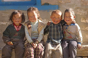 These rural Nepalese children seem to know the secret to happiness.